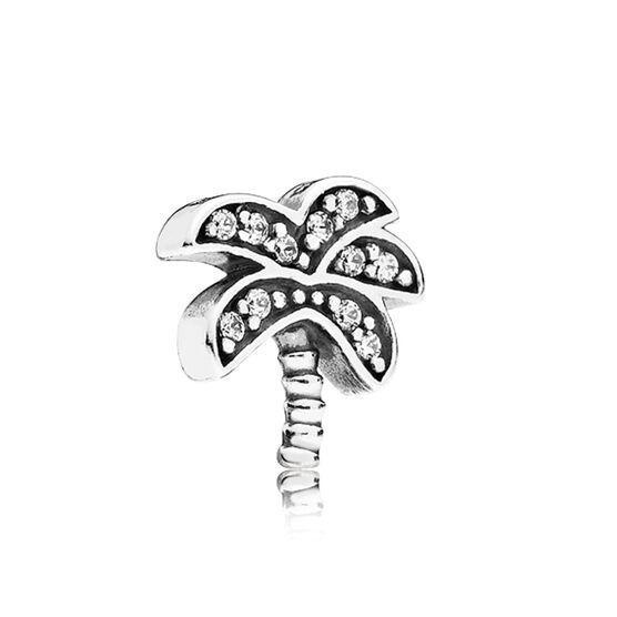 PANDORA Petite Element CZ Palm Tree Charm