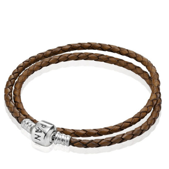 PANDORA Leather Clasp Bracelet