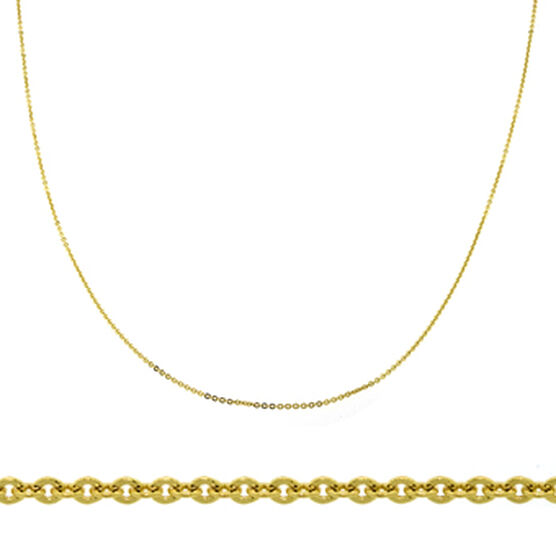 Diamond Cut Rolo Cable Chain 14K, 18""