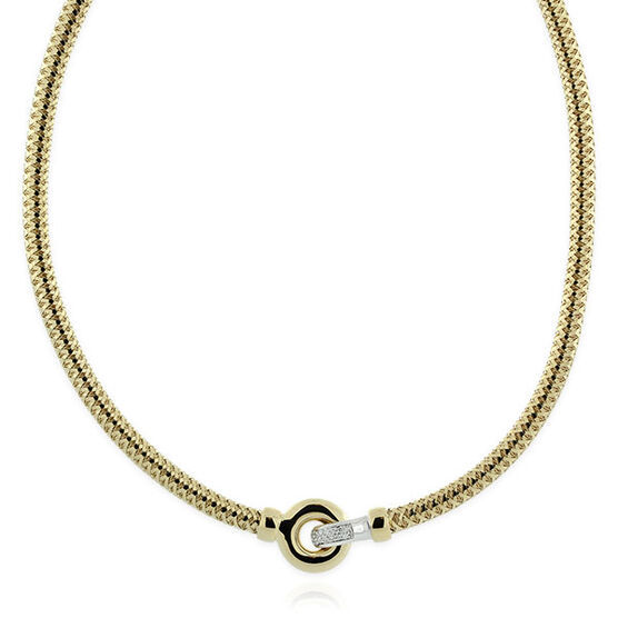 Roberto Coin Primavera Diamond Link Necklace 18K