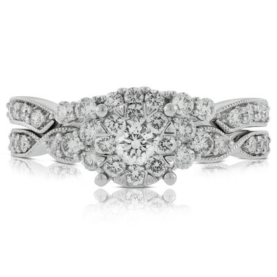 Love Bright Diamond Wedding Set 14K