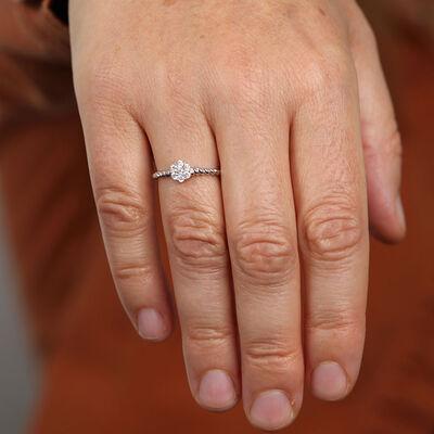 Twisted Diamond Ring 14K