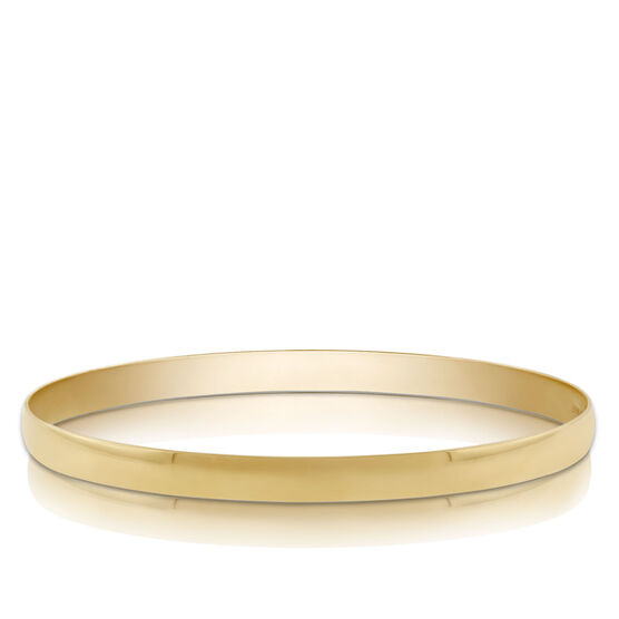 Gold Bangle Bracelet 14K, 5mm
