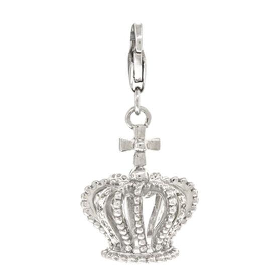 Diamond Crown Charm / Pendant 14K
