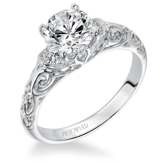 ArtCarved Diamond Semi-Mount Ring 14K
