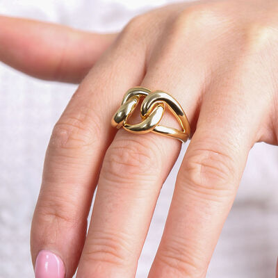 Toscano Buckle Ring 14K