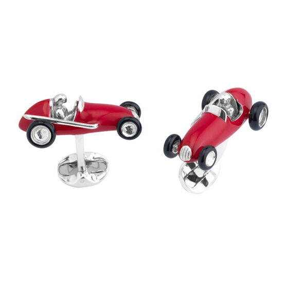 Deakin & Francis Racing Car Cufflinks in Sterling Silver