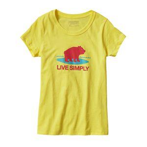 ガールズ・グラフィック・コットン/ポリ・Tシャツ, Blazing Yellow (BLZY)