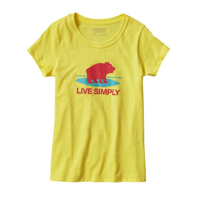 GIRLS' GRAPHIC COTTON/POLY T-SHIRT, Blazing Yellow (BLZY)
