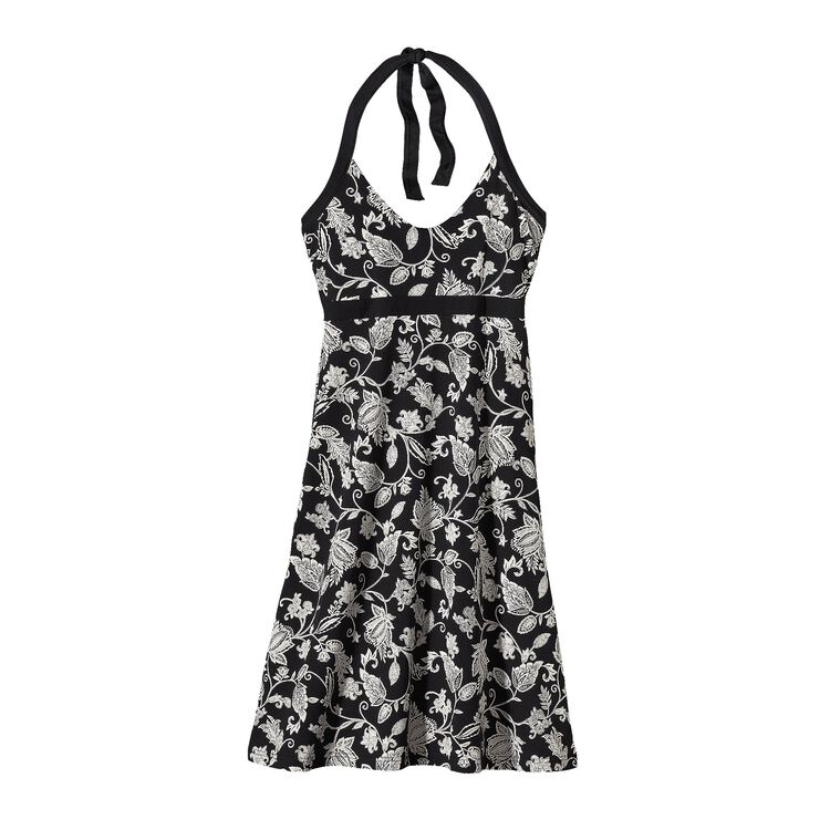 W'S ILIANA HALTER DRESS, Beautiful Life: Black (BFBK)