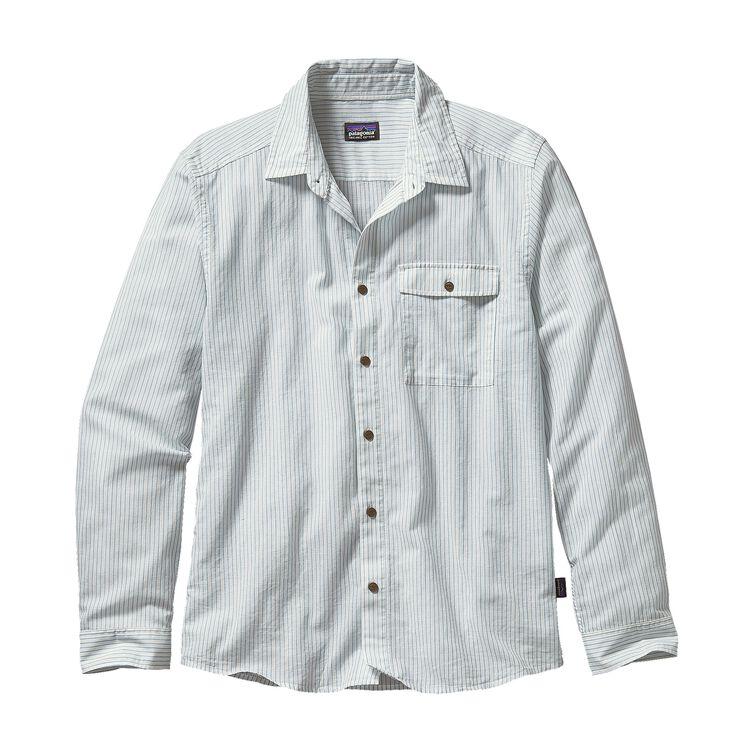 M'S L/S LW A/C SHIRT, Agate Stripe: Birch White (AGBH)