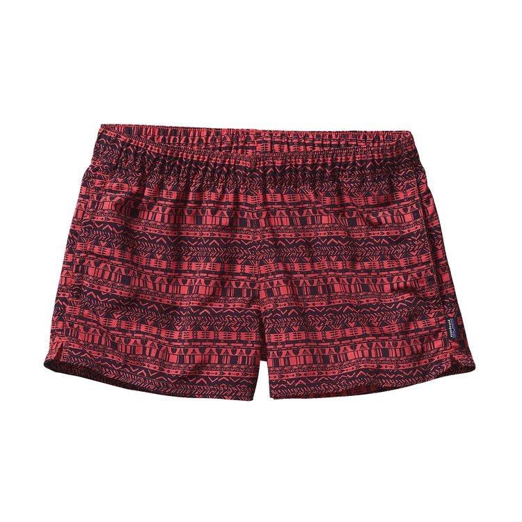 W'S BARELY BAGGIES SHORTS, Points and Feathers: Shock Pink (PSHP)