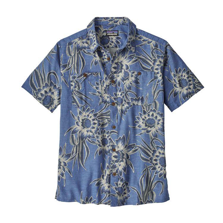 メンズ・バック・ステップ・シャツ, Cereus Flower: Dolomite Blue (CEDO)