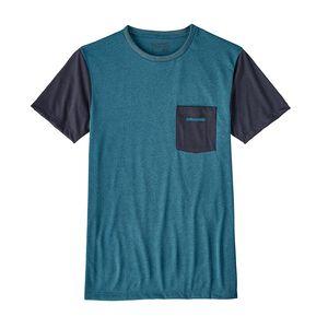 メンズ・テキスト・ロゴ・リサイクル・ポリ・ポケット・レスポンシビリティー, Filter Blue (FLTB)