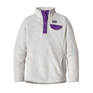 ガールズ・リツール・スナップT・プルオーバー, Raw Linen - White X-Dye w/Purple (RWXP)