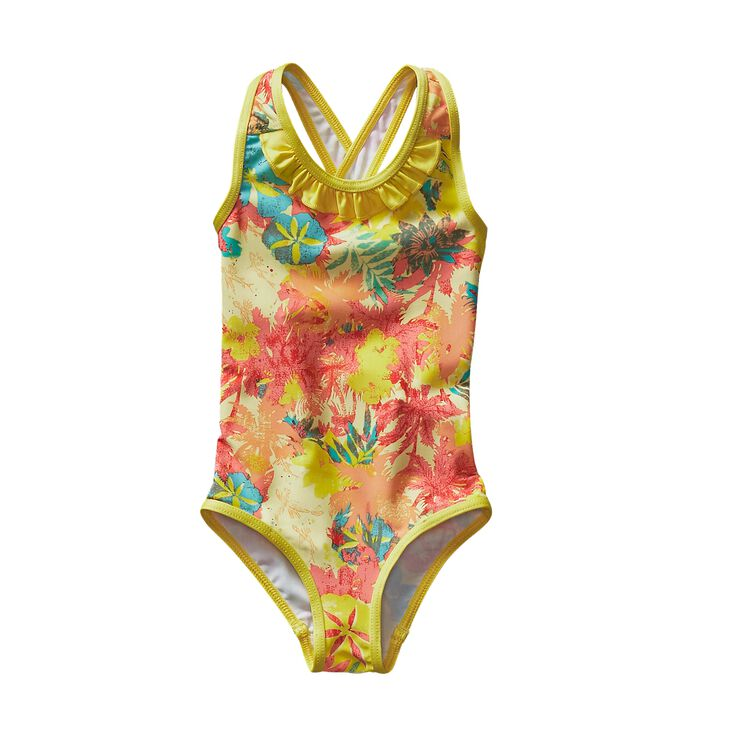 BABY QT SWIMSUIT, Neo Tropics Lite: Blazing Yellow (NBZY)