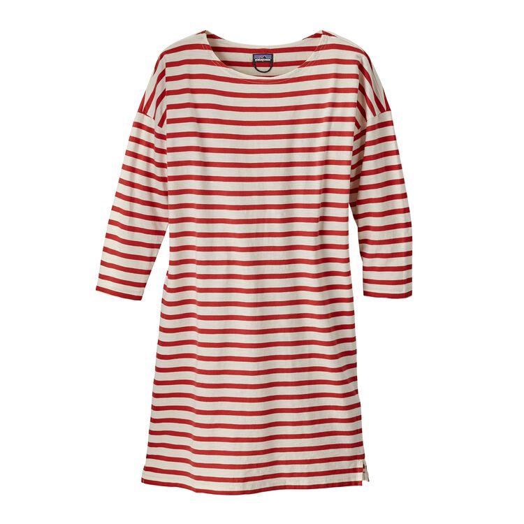 W'S SEATOLLER DRESS, Midnight Stripe: Static Red (MISS)