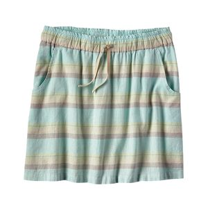 W's Island Hemp Beach Skirt, Shorelines Small: Bend Blue (SBND)