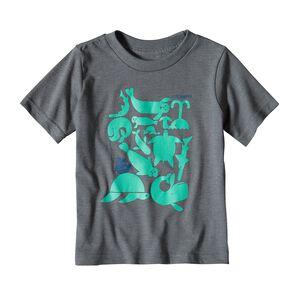 ベビー・リブ・シンプリー・シー・バズ・コットン/ポリ・Tシャツ, Narwhal Grey (NHG)