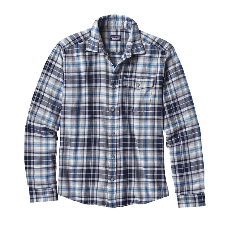 M'S L/S LW FJORD FLANNEL SHIRT, Rootsy: Navy Blue (RONB)