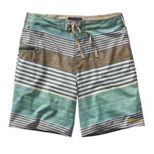 メンズ・プリンテッド・ストレッチ・プレーニング・ボード・ショーツ(51cm), Stripe of Stripes Texture: Nouveau Green (SSTN)