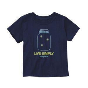 ベビー・グラフィック・コットン・Tシャツ, Navy Blue (NVYB)