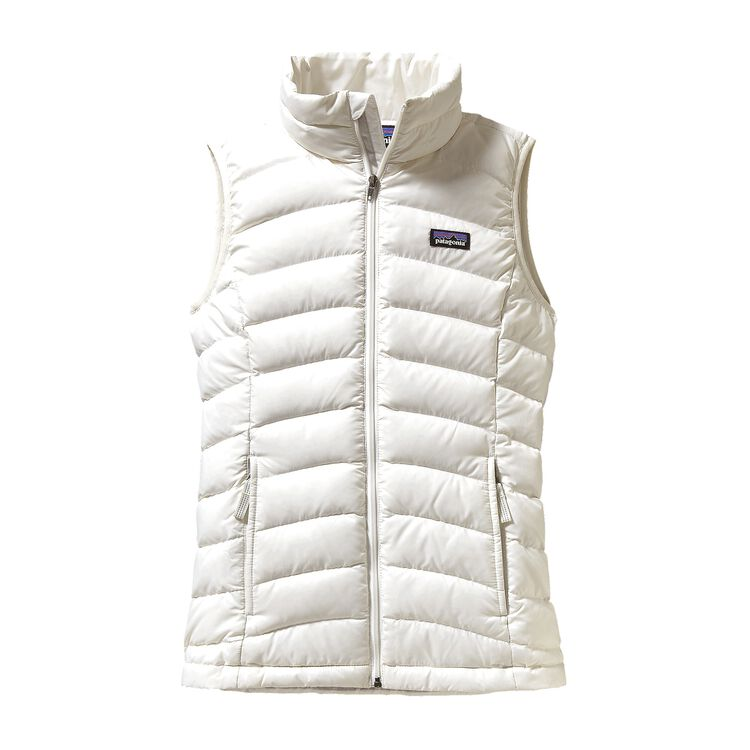 GIRLS' DOWN SWEATER VEST, Birch White (BCW)