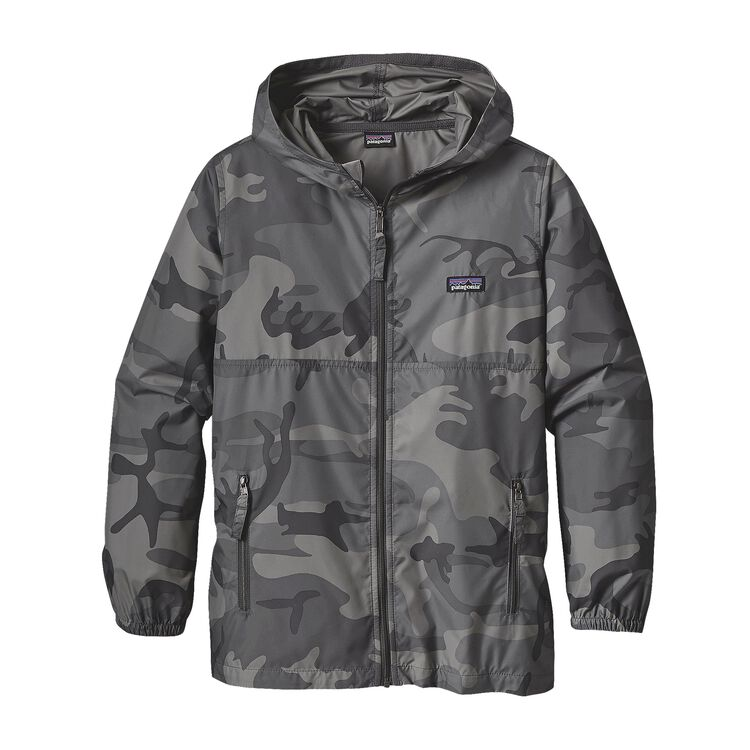 BOYS' LIGHT AND VARIABLE HOODY, Forest Camo: Forge Grey (FCFG)