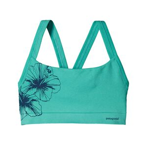 W's Active Mesh Bra, Waterflower Graphic: Howling Turquoise (WFHT)