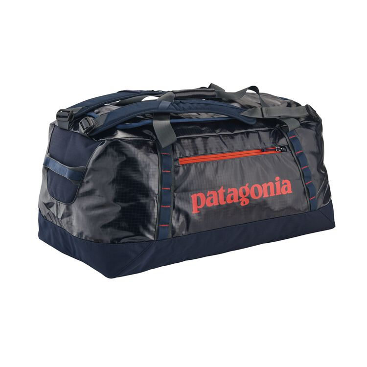 BLACK HOLE DUFFEL 90L, Navy Blue w/Paintbrush Red (NPTR)
