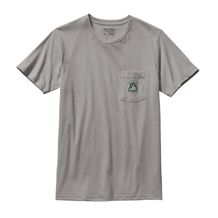 M'S MOONSET COTTON/POLY POCKET T-SHIRT, Drifter Grey (DFTG)