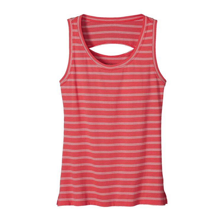 W'S SHALLOW SEAS TANK, Miles Stripe: Shock Pink (MSHP)