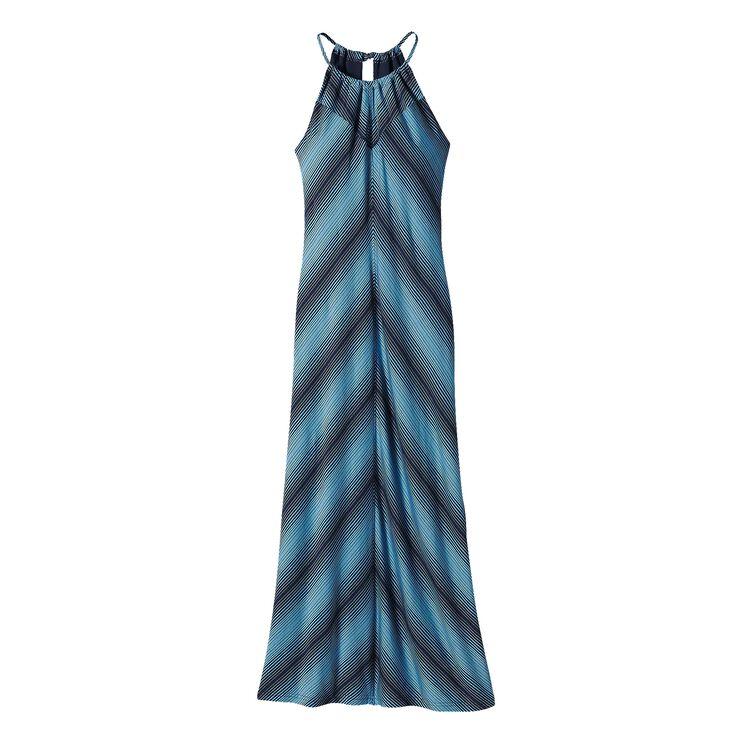 W'S KAMALA KEYHOLE DRESS, Reflection Stripe: Navy Blue (RFNV)