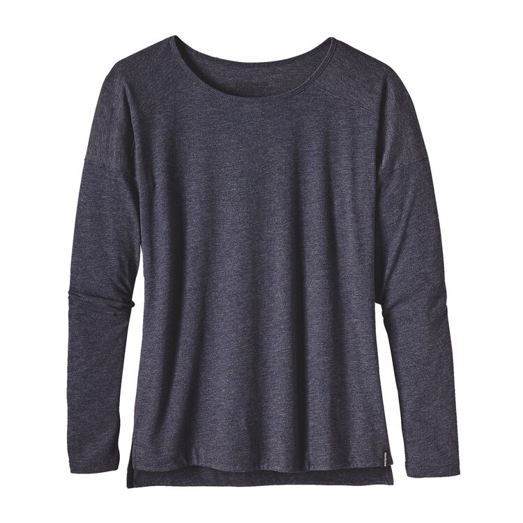 W'S LW L/S LAYERING TOP, Navy Blue (NVYB)