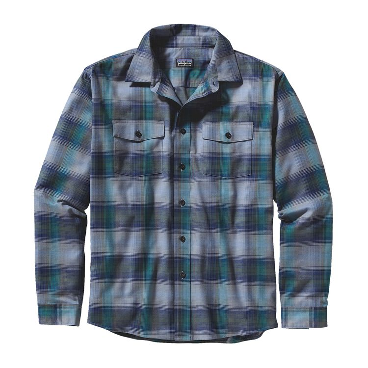 M'S L/S BUCKSHOT SHIRT, Triple Rainbow: Glass Blue (TRGB)