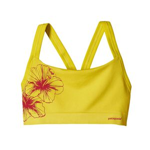 W's Active Mesh Bra, Waterflower Graphic: Blazing Yellow (WFBZ)