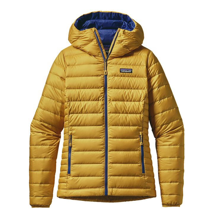 W'S DOWN SWEATER HOODY, Sulphur Yellow (SULY)