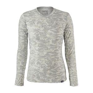ウィメンズ・キャプリーン・ロングスリーブ・デイリー・Tシャツ, El Nino Camo Small: Tailored Grey (ENST)