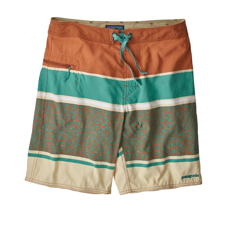 M'S WAVEFARER BOARDSHORTS - 19 IN., Batik Hex Stripe: Canyon Brown (BACB)