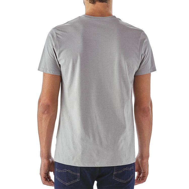 メンズ・フィッシング・スクリプト・コットン/ポリ・Tシャツ,
