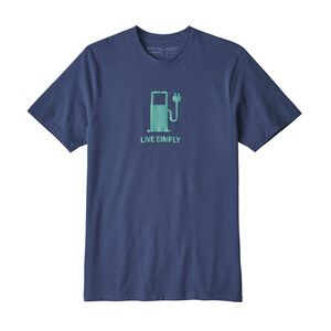 M'S LIVE SIMPLY POWER RESPONSIBILI-TEE, Dolomite Blue (DLMB)