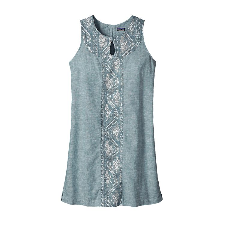 W'S ISLAND HEMP SHIFT DRESS, Chambray: Catalyst Blue (CCYB)