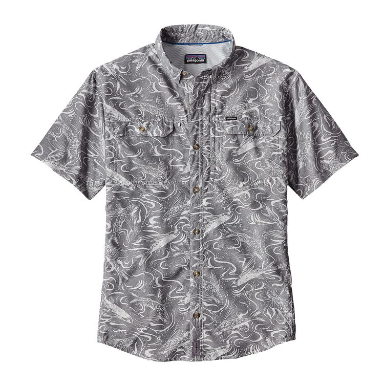 M'S SOL PATROL II SHIRT, Fish Splash: Tailored Grey (FSTG)