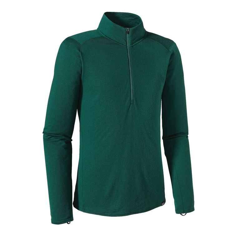 M'S MERINO TW ZIP NECK, Hunter Green (HNT)