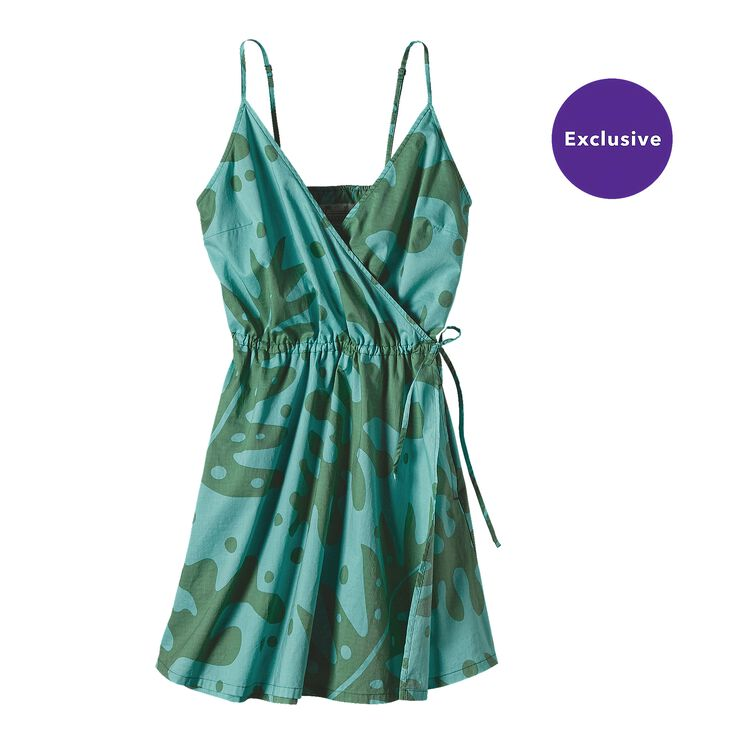 W'S PATALOHA CROSSOVER DRESS, Ferns: Mogul Blue (FMGB)