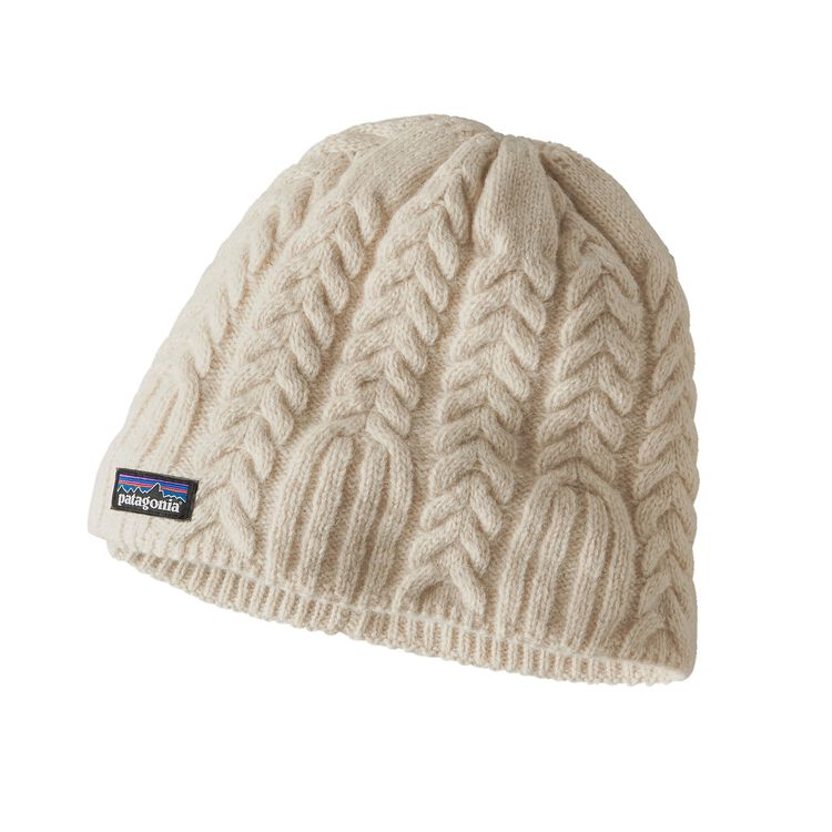 W'S CABLE BEANIE, Toasted White (TSTW)