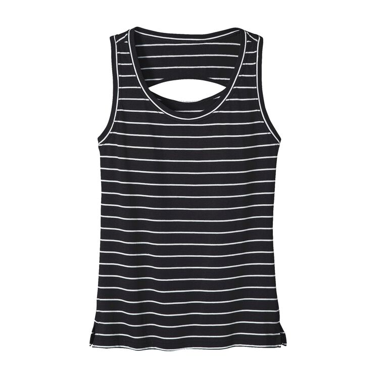 W'S SHALLOW SEAS TANK, Nettie Stripe: Black (NETB)