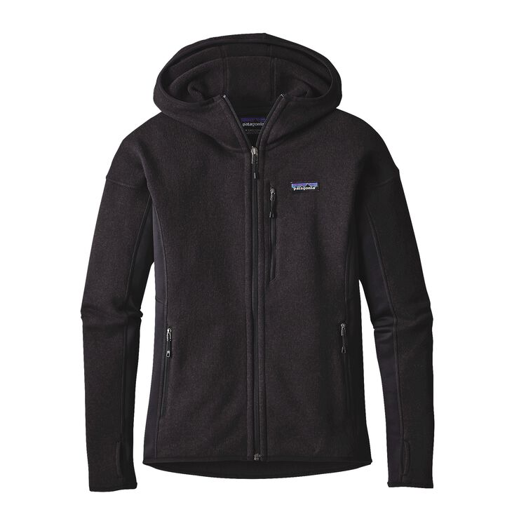 W'S PERFORMANCE BETTER SWEATER HOODY, Black (BLK)