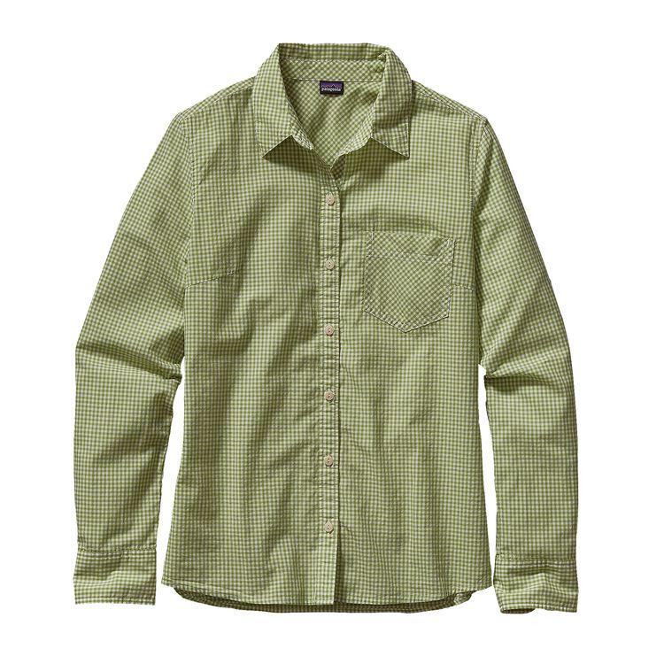 W'S L/S BROOKGREEN SHIRT, Mini Rilay: Supply Green (MNSG)