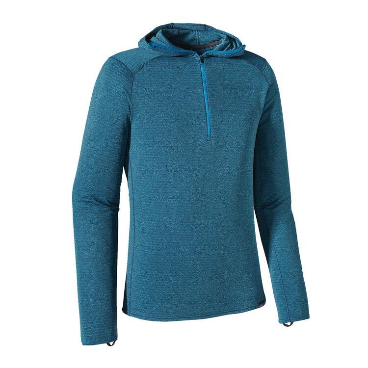 M'S CAP TW ZIP NECK HOODY, Smolder Blue - Electron Blue X-Dye (SEBX)